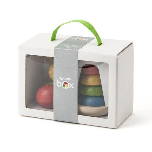Coffret de jeu pyramide et fruits à découper Happy box création Oxybul