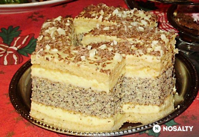 Francia mákos krémes Ildikó konyhájából