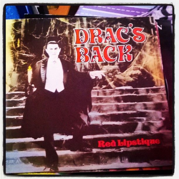 Beautiful #BelaLugosi #Dracula at #RedLipstique #album #albumcover #Dracsback #halloweenmusic  #Halloween
