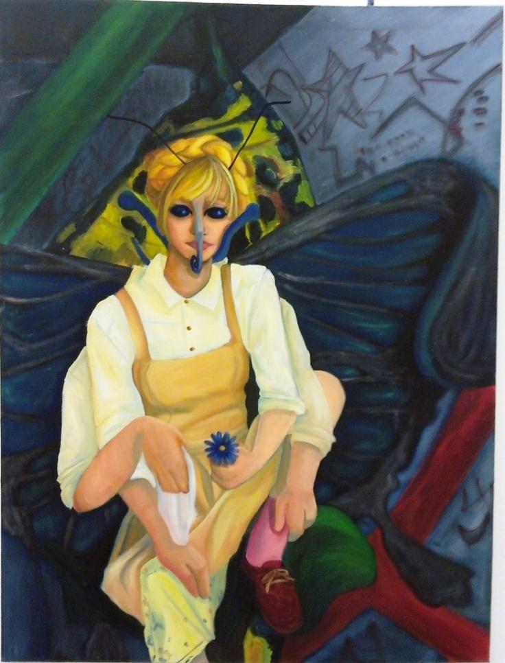 Butterfly Princess - Original 3' x 4' Oil Painting. $1,000.00, via Etsy.