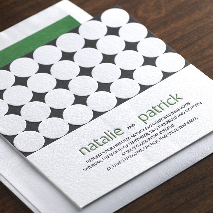 Circa Wedding Invitation By Checkerboard Ltd.