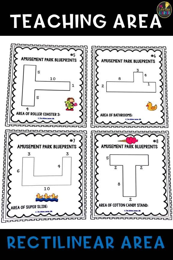 An Excellent 3rd Grade Math Unit In Finding The Area Of Rectilinear Area Figures It Includes Mini Lesson 3rd Grade Math Winter Math Activities Area Worksheets