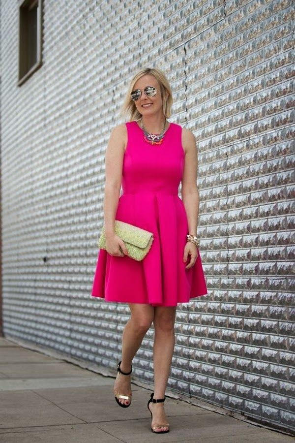 Como usar hot pink - pink -magenta - rosa choque | Summer wedding attire, Dresses, Fashion