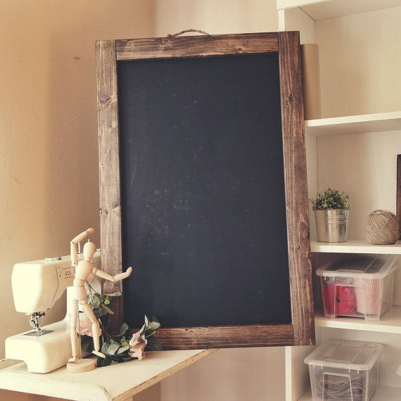 "Hand Made Rustic Hanging Chalkboard 24"" x 36"""