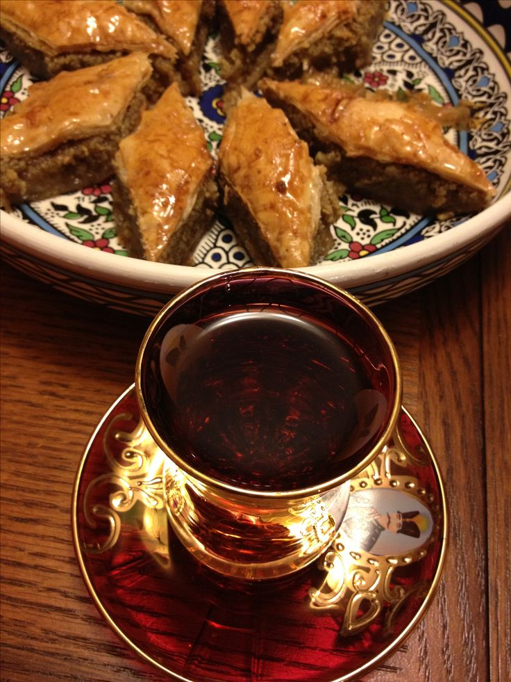Yummy Baklava and Persian tea solo yummy and it has some health benefits to