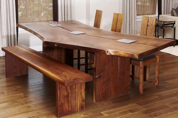 Эксклюзивный стол из массива, дерево, дерево в интерьере, массив, изделия из дерева, изделия из массива, Бигвуд