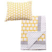 Baby cot bed bedding set in soft cotton jersey yellow and grey design Funky Nursery for gorgeous nursery furniture, nursery cot bedding and nursery decoration, cots, cot beds and baby bedding, nursery decoration and stylish highchairs