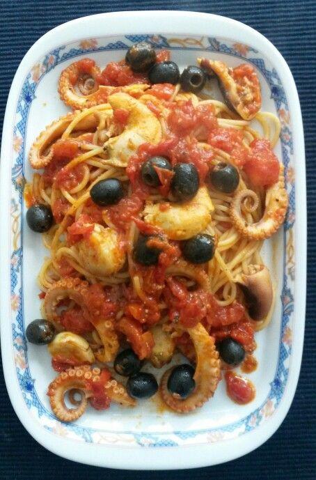Spaghetti polipo e capesante