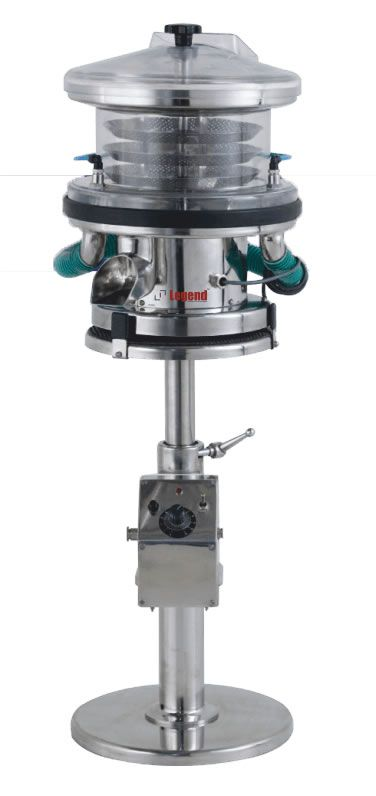 Legend De-dusting & deburring machine with an Advanced Tablet conveying route design for easy removal of tablets burrs.