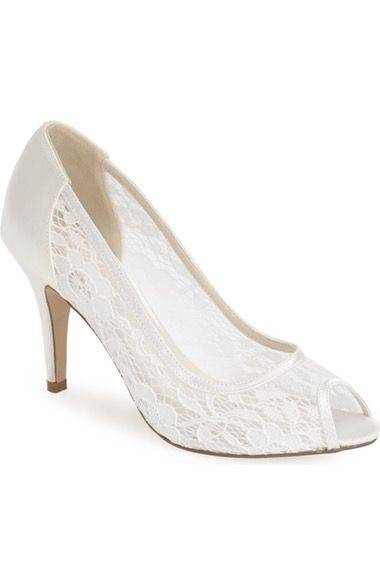 pink paradox london 'Scrumptious' Lace Peep Toe Sandal (Women) available at #Nordstrom