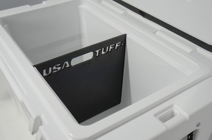 YETI 45QT or 35QT Cooler Accessories Single (2-way) Divider. Made in the USA by USA Tuff.  Perfect gift for the YETI love in your family or group of friends.  Available at https://www.usatuff.com/collections/cooler-accessories-dividers