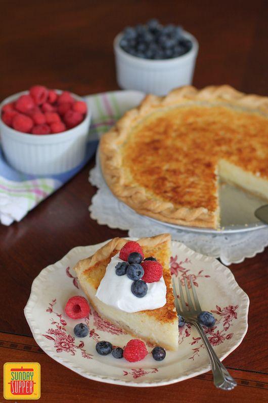 Southern Buttermilk Pie #SundaySupper #JuneDairyMonth with @floridamilk
