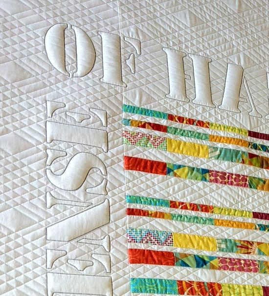 detail of In Defense of Handmade by Thomas Knauer and Lisa Sipes (machine quilting), as seen on Thomas Knauer's blog