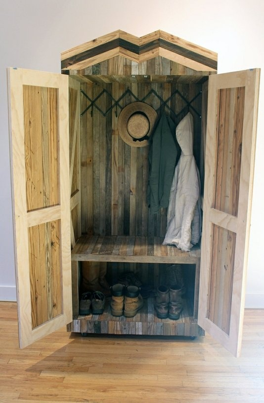 Items Similar To Mud Room Bench   Coat Closet Reclaimed Barn And Pallet  Wood On Etsy
