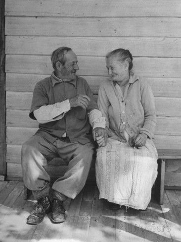 Elderly Couple Holding Hands Photographic Print by Peter Stackpole at AllPosters.com
