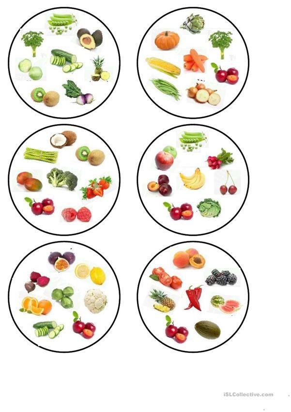 Dobble fruit and vegetables. worksheet – Free ESL printable worksheets made by teachers