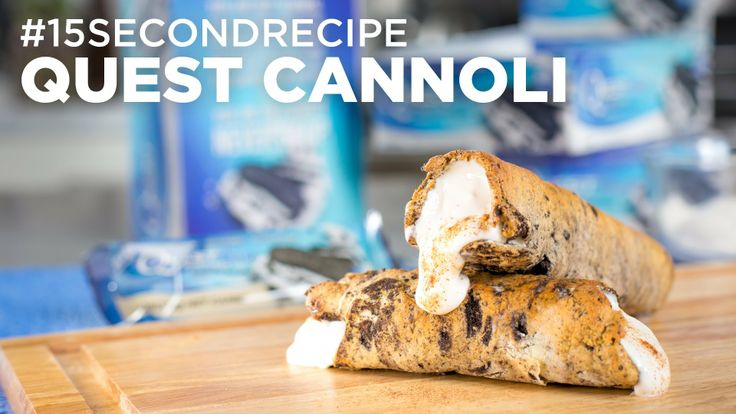 [VIDEO] Quest Cannoli #15SecondRecipe. Recipe by fan Kimberly H. #CheatClean