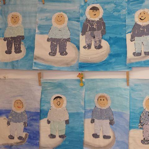 ❄❄❄Bei uns ist wieder Eiszeit 😉😉😉❄❄❄- Inuit auf einer Eisscholle...mit einer…