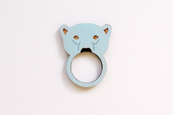 Polar Bear Wooden Ring by whimsymilieu on Etsy, $20.00
