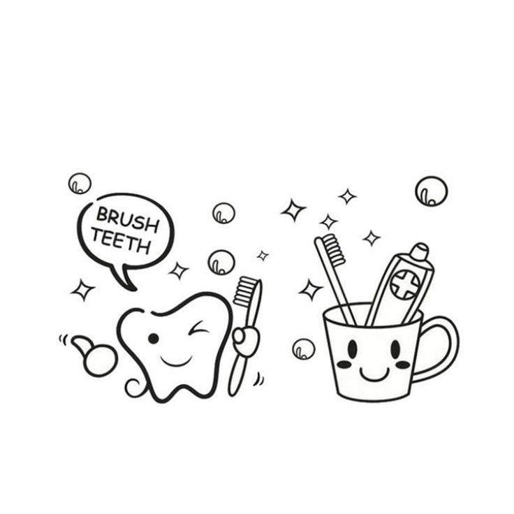 Teeth Tooth Brush Wall Sticker //Price: $5.56 & FREE Shipping //     #housedecoration
