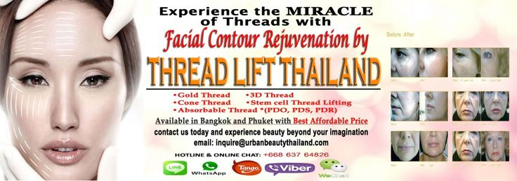 www.urbanbeautythailand.com Thread lift Mini facelift Thailand - Non-surgical Facelifts: The alternative to surgical facelift. Contact Urban Beauty Thailand today with Best offer in Thailand