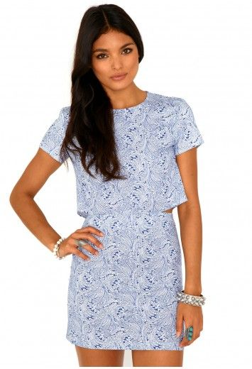 Annalisa Paisley Cut Out Mini Dress - Dresses - Missguided