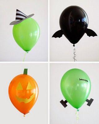 "ideas para decorar con globos para niños ""Halloween"" (1)"