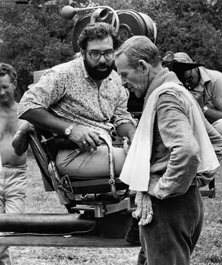 Francis Ford Coppola y Fred Astaire en el rodaje...