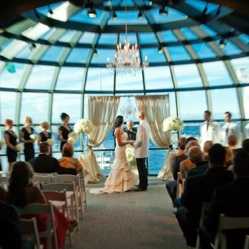 The Ceremony Was Held At The Bellingham Cruise Terminal