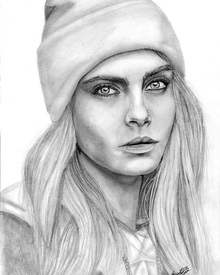 @Caradelevingne #caradelevingne #instaart #instaartwork #art #arte #artwork #artist #paintingoftheday #painting #colour #color #newartwork #myart #creative #abstract #abstractart #potd #happy #drawing #watercolor #watercolour #illustration #fabercastell #polychromos #portrait #blackandwhite