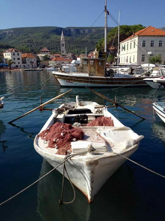 Traditional fishing boat, Jelsa, Hvar-  Dalmatia. Croatia.