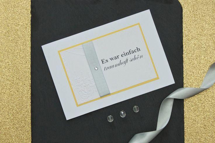 Wonderful #thankyou card with an elegant embossed chandelier   lucyvanbarnes.de