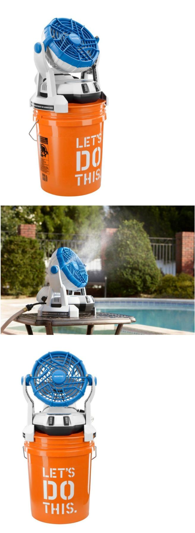 Portable Fans 20612: 18 Volt Two Speed Misting Bucket Top Heating Cooling Portable Fan Easy Moving -> BUY IT NOW ONLY: $91.93 on eBay!