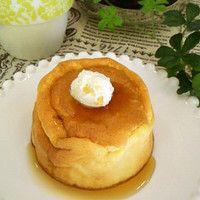Souffle pancakes!  1 1/3 T butter 2 2/3 T sugar 4T flour 5 1/3 T milk 1t baking powder 4 eggs