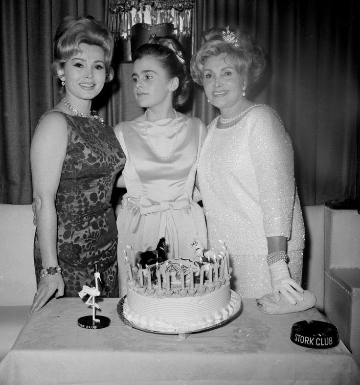 "Remembering honoring Francesca Hilton on Tributes.com. ""Zsa Zsa Gabor, left, and her mother Jolie, right, celebrate the 16th birthday of Zsa Zsa's daughter Francesca Hilton at New York's Stork Club, March 10, 1963. (AP Photo/Harvey Lippman)"""