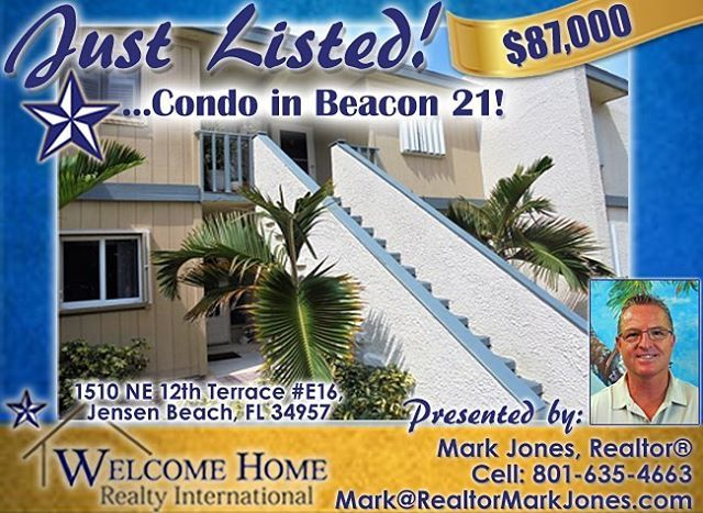#JustListed #BuySellRent #whrintl #welcomehomerealtyintl #welcomehomerealtyinternational #fl #florida #realestate #realestateagent #realtor #realtorlife #forsale #condo #jensenbeach #floridaliving #treasurecoast #martincounty #condominium #beacon21 #like #follow #zillow #mls #localrealtors - posted by Welcome Home Realty Int'l 🏡 https://www.instagram.com/whrintl - See more Real Estate photos from Local Realtors at https://LocalRealtors.com