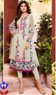 Shilpa Shetty Dove Color Georgette Straight Cut Salwar Kameez   FH496476057 #heenastyle , #salwar , #kameez , #suits , #anarkali , #party, #wear , #panjabi , #patiyala , #abaya , #style , #indian , #fashion , #designer , #bridel , #evening , #formal , #office , #deaily , #dupatta , #churidar , #palazo , #plazzo , #nerrow , #pant , #dress , #dresses , #fashion , #boutique , #mode , #henna , @heenastyle , #latest , #gowns , #pakistani , #readymade , #stitched , #plus , #size , #islamic