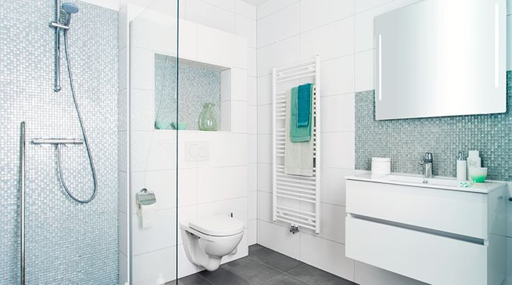 Frisse badkamer met mozaïek accenten