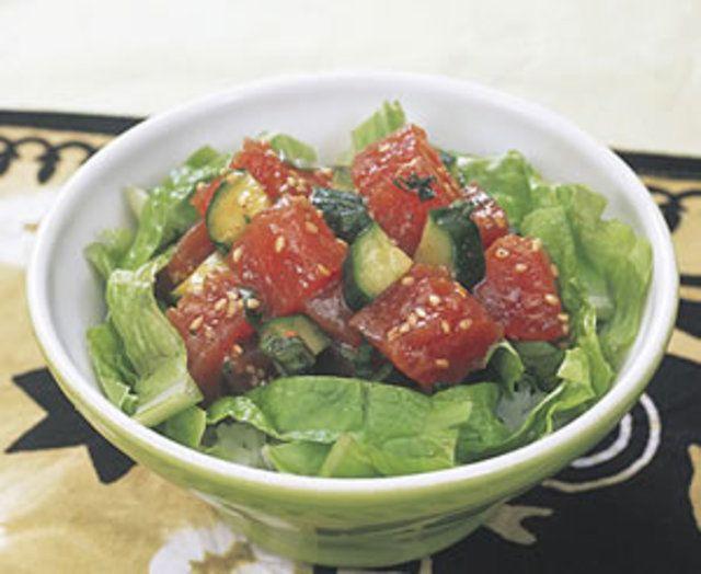 まぐろのエスニック丼のレシピ・作り方 - 無料レシピまとめ【レシぽん】 提供元:コープこうべ