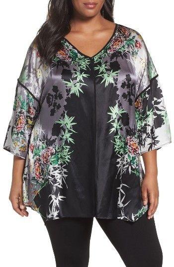 Plus Size Women's Citron Print Silk Tunic   http://shopstyle.it/l/Hq1