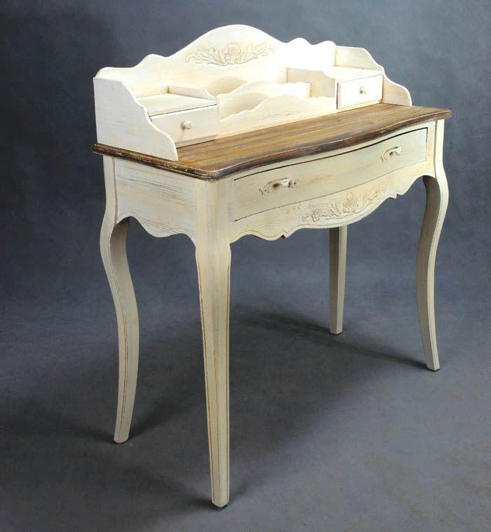 Romantyczny sekretarzyk z kolekcji rustykalnej / Dressing table with extension in Vintage Style