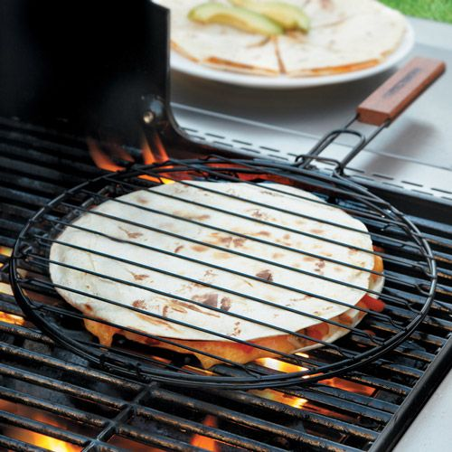 Charcoal Companion Quesadilla Grill Basket\nEnjoy the char-grilled flavor of restaurant-style quesadillas with this nonstick quesadilla grill basket.