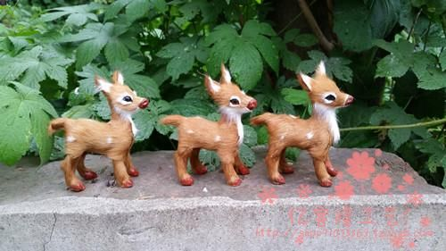 simulation mini sika deer model toy polyethylene & furs 8*4*9CM deer hard model one lot/ 6 pieces, home decoration gift t204 //Price: $US $25.38 & FREE Shipping //     #toyz24