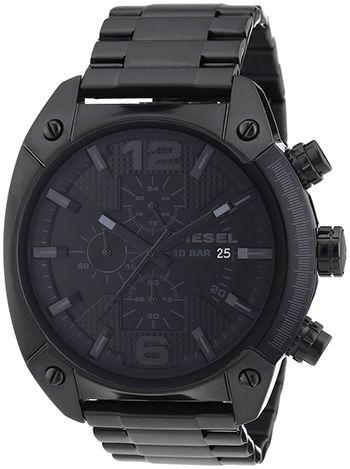Montre Diesel Noir DZ4223 Homme - Quartz - Chronographe - Cadran et Bracelet en Acier inoxydable Noir - Date
