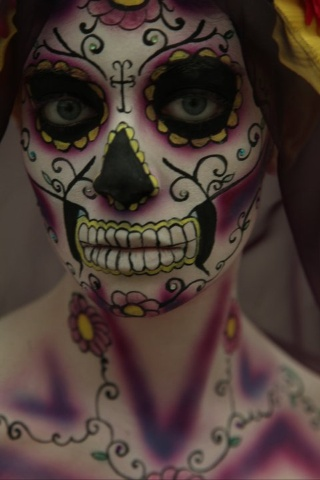 dia de los muertos Halloween Inspiration ... (I don't know what it means, but it sure is pretty): Halloween Costumes, Faces Paintings, Halloween Makeup, Of The, Sugar Skull Makeup, Day Of The Dead, Dead, Day, Halloween Ideas