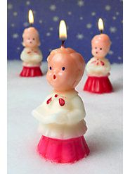 Angel candles {Grandma used to have these! I'm so excited I can get some!}