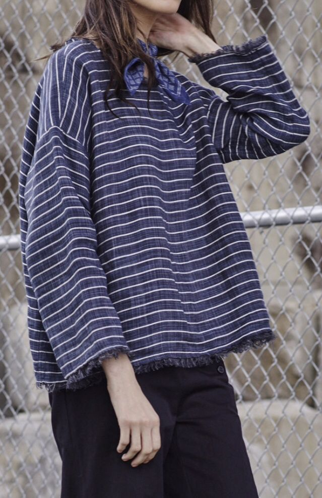 Nili Lotan SS 2016 sleeve and hem fringe