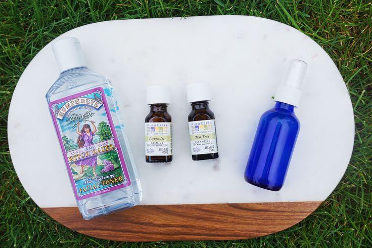 DIY Yoga Mat Spray - uses White Hazel, water, and