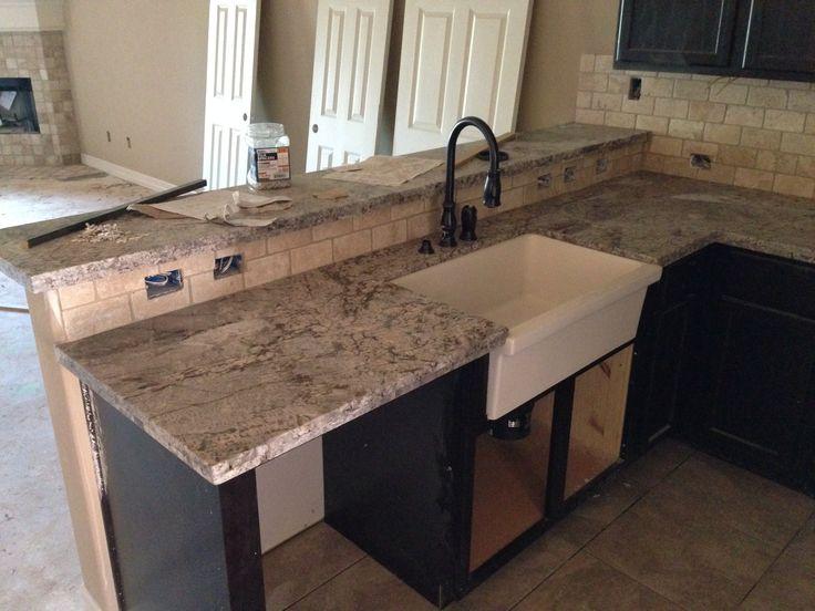 Cold Springs Granite Countertops : Farm sink and cold spring granite countertop kitchen