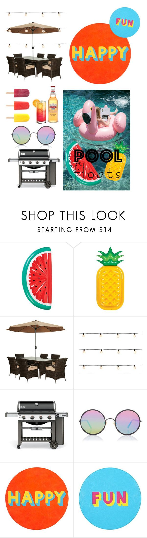 """Summmmaa"" by emelia-duarte ❤ liked on Polyvore featuring interior, interiors, interior design, home, home decor, interior decorating, Sunnylife, Été Swim, Bellini and International"